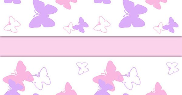 Butterfly Nursery Decor Wallpaper Border Pink Purple Wall