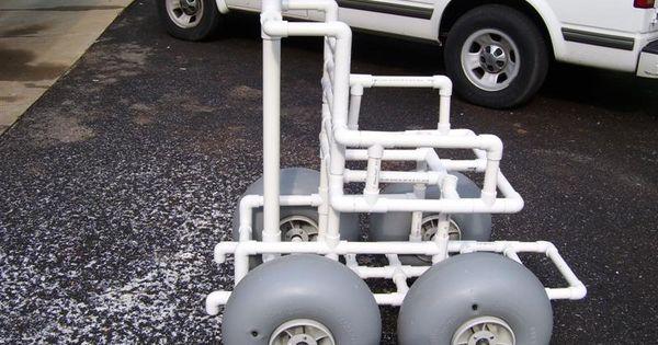 Diy beach wheelchair for Pvc pipe chair plans