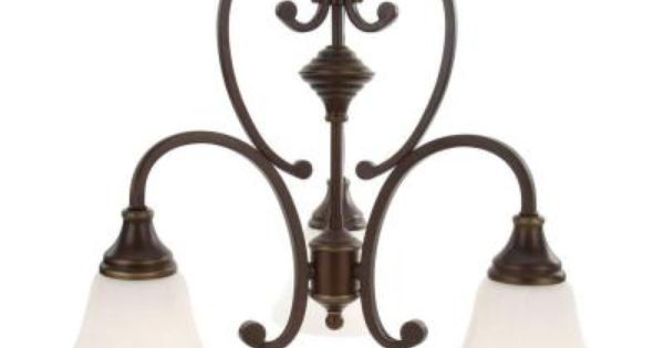 Hampton Bay Somerset 3 Light Bronze Chandelier With Bell Shaped