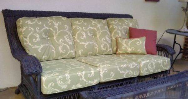 Gorgeous Replacement Cushions For Ethan Allen Wicker Furniture The Fabric Used For The Deep