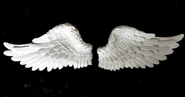Set 2 Cream Roman Angel Wings Bedroom Angelic Wall Art