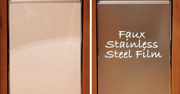 Turning White Appliances Into Stainless Steel For 25