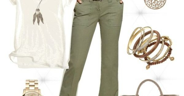 Olive Jeans :) cute casual outfit