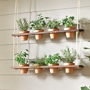 How To Make A Hanging Herb Garden Hanging Herb Gardens Hanging
