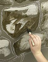 How To Paint A Castle Wall Faux Stone Walls Faux Rock Walls Fake Stone Wall