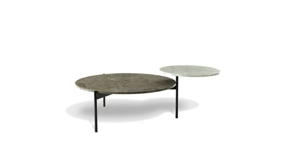 Excentric round cocktail table mesas de centro for Table basse molteni