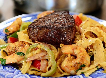Surf Turf Cajun Pasta. Marlboro Man approved!