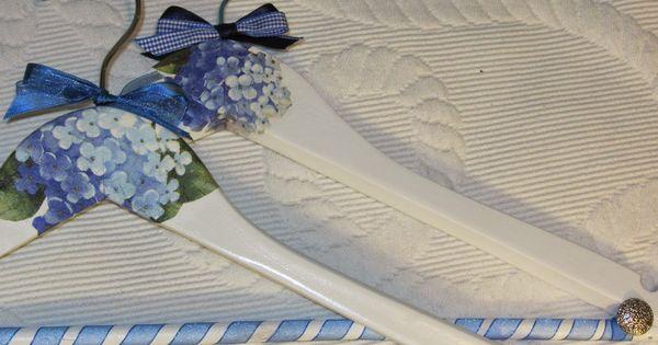 Perchas decoradas con servilletas de papel suvenir - Servilletas de papel decoradas para manualidades ...
