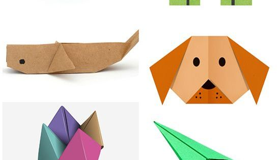 top 15 paper folding or origami crafts for kids origami art craft activities and origami. Black Bedroom Furniture Sets. Home Design Ideas