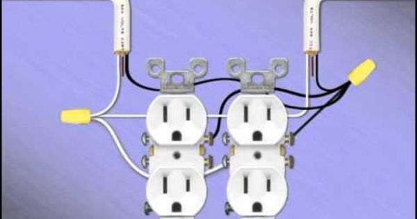 how to wire a double gang receptacle  diy electrical