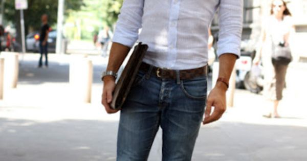 Classic: white shirt and blue jeans. Who can go wrong?
