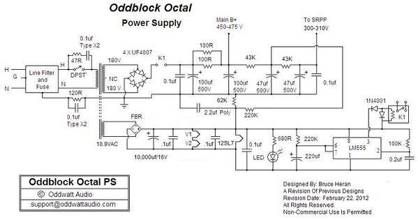 Power Supply Schematic Kt88 Push Pull Tube Amp Sloksik