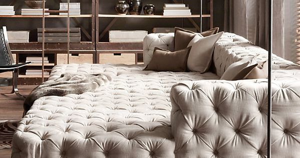 Soho Tufted Upholstered Daybed From: Restoration Hardware. Perfect for a movie room