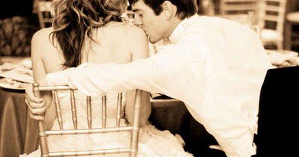 Kenny kisses me like this now :) wedding pics