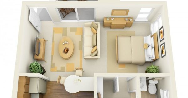 11 Ways To Divide A Studio Apartment Into Multiple Rooms Studio