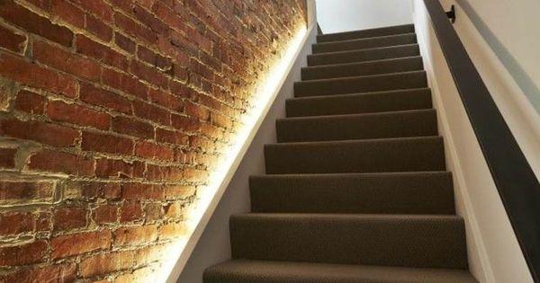 escalier int rieur quelques id es d 39 clairage moderne sous sol salons and staircases. Black Bedroom Furniture Sets. Home Design Ideas