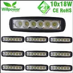 10 Pcs 6 Inch Spot Flood Single Row 18w 4x4 Truck Offroad Car Led Work Light Bar For Jeep 12 Volt Led Work Light Work Lights 4x4 Trucks