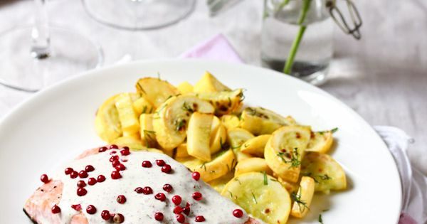 Roasted Salmon with Pink Peppercorn Sauce | Recipe ...
