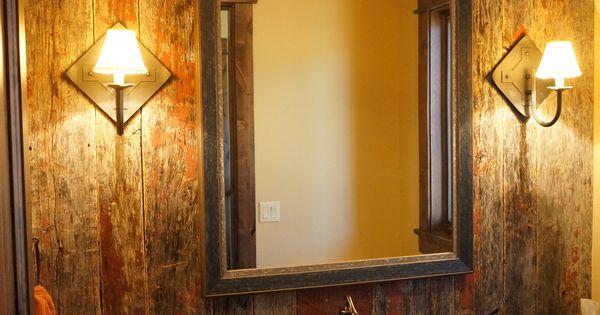 Red Amp Grey Barn Siding In Bathroom Reclaimed Barn Wood