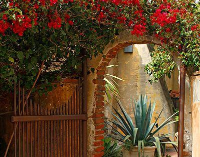 Garden gate, Mission San Juan, CA.