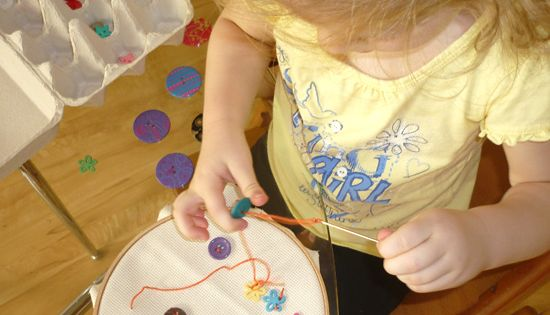 Sewing is such a great activity to develop fine motor control, a
