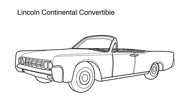 Lincoln continental convertible coloring page coloring for Convertible car coloring pages