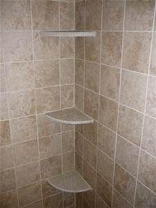 install tile corner shelf in shower Bing Images