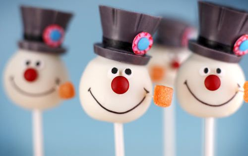Frosty cake pops~ a great holiday treat!