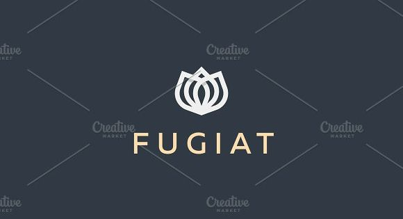 Abstract flower vector logotype. Elegant crown linear symbol. Premium icon logo