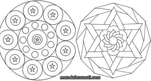 Mandala Ornekleri Cizimi Ile Huzur Bulun Cizim Mandala Cakra