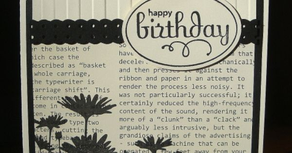 stampin up birthday card - black and white