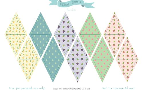 free mini bunting and other summer party printables