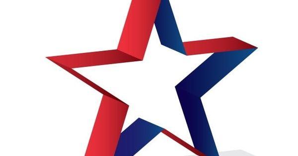 Gambar Mudah 3d Usa Bintang Logo Template Ikon Bintang Logo Ikon Ikon 3d Png Dan Vektor Untuk Muat Turun Percuma Bintang Template Desain Banner