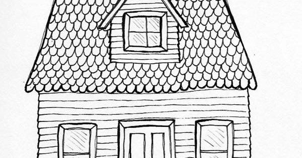 Drawing House Posted By Jacqueline Hudon Verrelli At 3