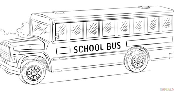 How To Draw A School Bus Step By Step. Drawing Tutorials