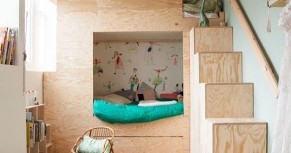 Litera de madera original para ninos forma casa deco - Literas para ninos pequenos ...