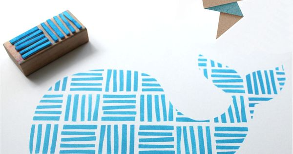 "Love this! Such a cute idea to stamp cut out shapes. ""Lines"