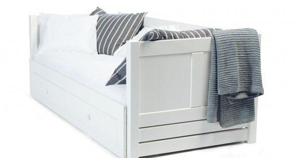 Mavis solsta seng med udtræk   multiseng i råhvid   90/180x200 ...