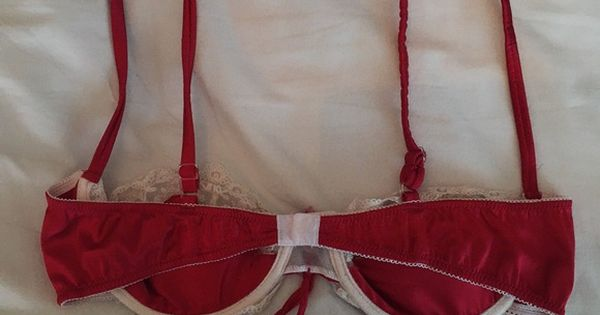 8b01c5ee01 Vintage Red Bra with Lace Accents vintage red bra with lace accents. no  tags but would best fit an aa-a cup. in perfect condition except for some c…