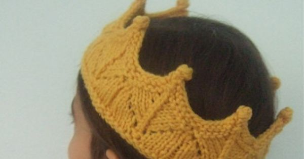 Lace Knit Crown. Winter headband? I know it's for kids but I