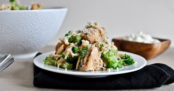 Crockpot Parmesan Chicken serves 4-6 4 boneless, skinless chicken breasts 4 tablespoons