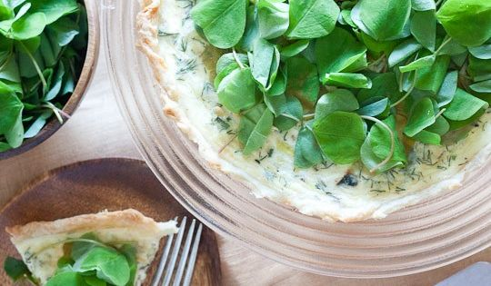 Spring Quiche with Leeks and Sorrel | Recipes for Spring | Pinterest