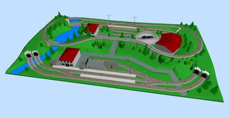 Model Train Layouts Track Plans In Ho Scale Various Projects Designed With Scarm Layout Software Ho Train Layouts Train Layouts Model Railway Track Plans
