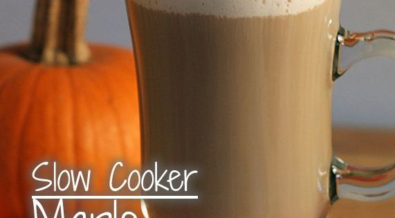 Slower Cooker Maple Pumpkin Latte: A big batch party recipe that tastes