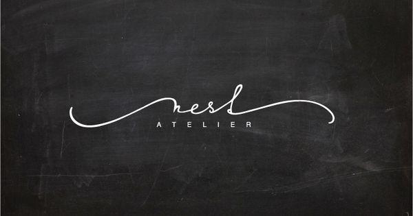 lettering for Nest atelier | Typography | Pinterest ...