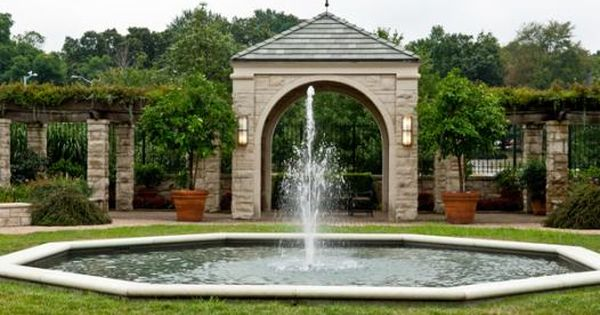 Ewing Muriel Kauffman Memorial Fountain Fountain City Kansas City Missouri Memorial Garden