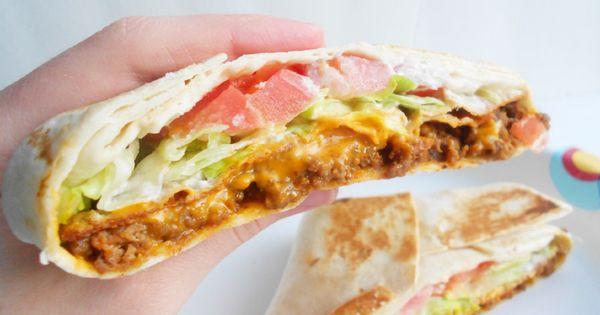 homemade crunchwrap supreme! Way more healthy than Taco Bell.- a healthy crunch