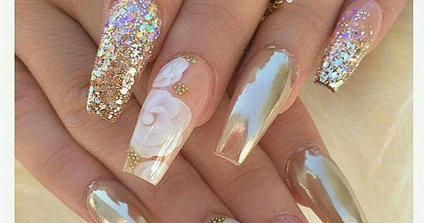 Love this nail design on these coffin nails. vanessa_nailz ...