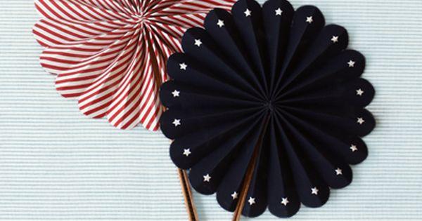 paper fans. Paper craft.