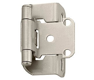 Amerock Bpr7550g10 Adjustable 1 2 Overlay Partial Wrap Self Closing Cabinet Hinge Pair Satin Nickel Hinges For Cabinets Overlay Hinges Amerock Hinges